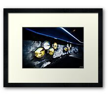 Timepiece Tunnel Framed Print