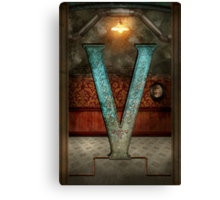 Steampunk - Alphabet - V is for Victorian Canvas Print
