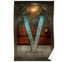 Steampunk - Alphabet - V is for Victorian Poster