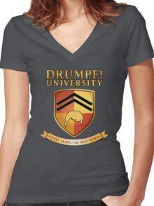 Drumpf University Women's Fitted V-Neck T-Shirt