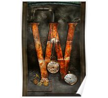 Steampunk - Alphabet - W is for Watches Poster