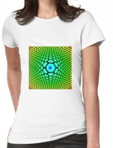 Hexagon Gradient - Blue | Cyan | Green | Yellow | Red Womens Fitted T-Shirt