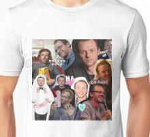 Simon Pegg Collage Unisex T-Shirt