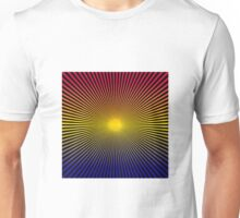 Lines Gradient - Blue | Yellow | Red Unisex T-Shirt