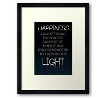 HARRY POTTER Quote by Albus Dumbledore Framed Print
