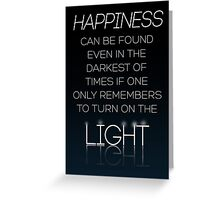 HARRY POTTER Quote by Albus Dumbledore Greeting Card