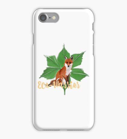Eco-Warrior (Fox Edition)  iPhone Case/Skin