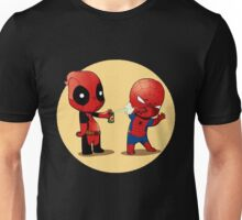 Deadpool Sprays Spider-Man Cute Unisex T-Shirt