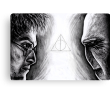 Harry vs Voldemort Canvas Print