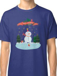 Cute Fun Snowman Merry Christmas  Classic T-Shirt