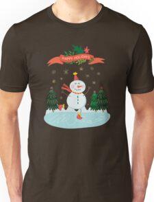 Cute Fun Snowman Merry Christmas  Unisex T-Shirt