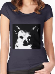 Black and White Chihuahua Women's Fitted Scoop T-Shirt