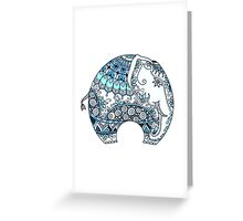Decorated Indian Elephant Greeting Card
