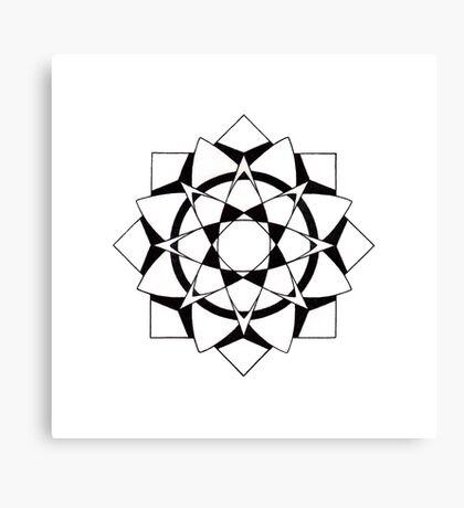 Mandala #215  ||  Mono Canvas Print