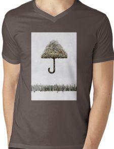Tree Umbrella Mens V-Neck T-Shirt