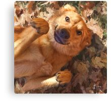 """""""Clarice in Leaves"""" Canvas Print"""
