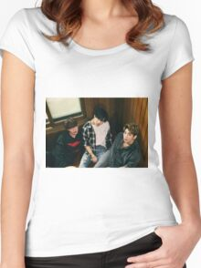 SHINee Tell Me What To Do Onew, Taemin & Jonghyun Women's Fitted Scoop T-Shirt