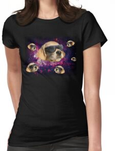 cool space dog Womens Fitted T-Shirt