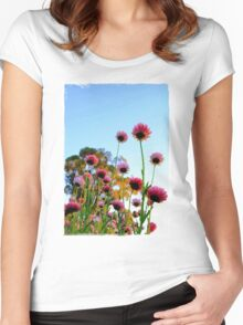 Colorful Flowers Women's Fitted Scoop T-Shirt