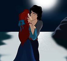 """The Little Mermaid - Ariel and Eric """"True love's kiss"""" by Marionlalala"""