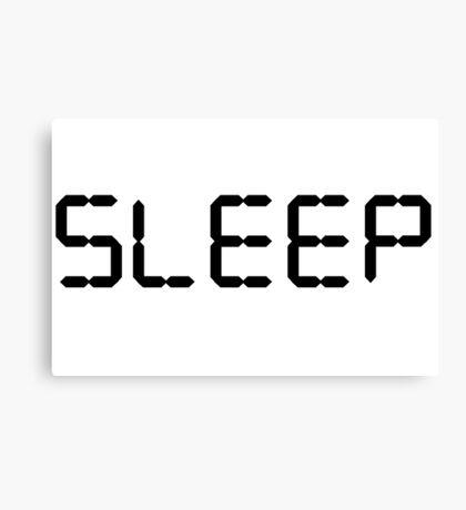Sleep Graphic Typography Canvas Print