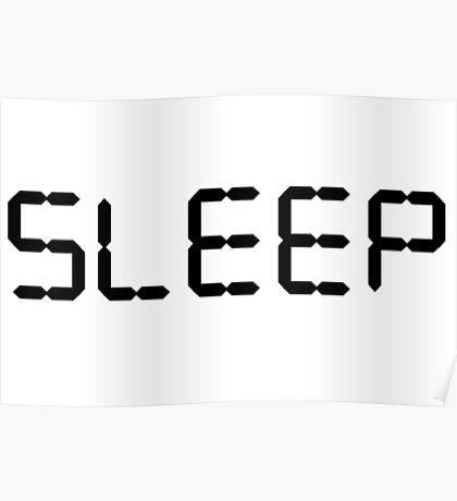 Sleep Graphic Typography Poster