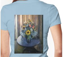 Shadowed in Silk Womens Fitted T-Shirt