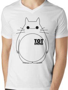 TOTHERO Mens V-Neck T-Shirt