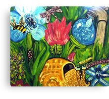 Under the tall grass is where the Bugs Live Canvas Print