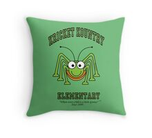 KRICKET KOUNTRY ELEMENTARY...where EVERY child is a little GENIUS! Throw Pillow