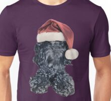 Cockapoo in a Christmas Santa Hat (Pink) Unisex T-Shirt
