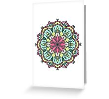 Mandala - Circle Ethnic Ornament Greeting Card