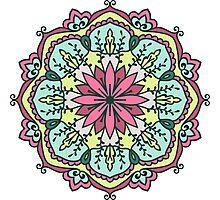 Mandala - Circle Ethnic Ornament Photographic Print