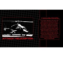 Identify as an Attack Helicopter - Mug Photographic Print