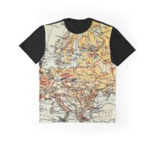 Old commercial map of Europe 1865 - 1907 Graphic T-Shirt