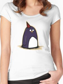 Party Penguin Women's Fitted Scoop T-Shirt