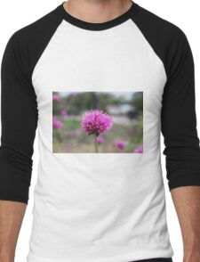 Blue Flower Men's Baseball ¾ T-Shirt
