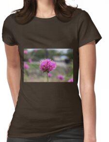 Blue Flower Womens Fitted T-Shirt