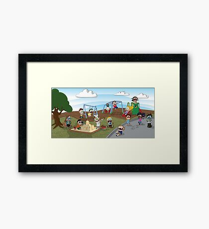 The Playground Framed Print