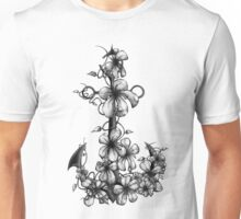 Anchor & Flowers  Unisex T-Shirt