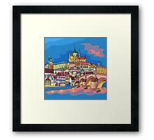 Christmas Prague landscape Framed Print