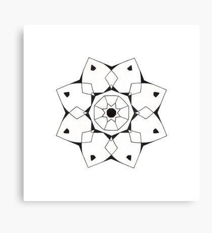Mandala #206 || Mono Canvas Print