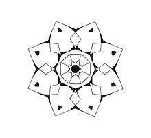 Mandala #206 || Mono by RedBookJournals