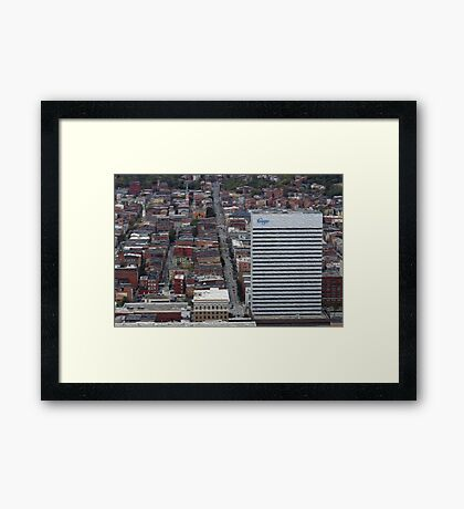 Downtown City  Framed Print