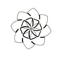 Mandala #207 || Mono by RedBookJournals