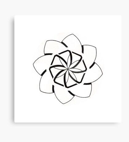 Mandala #207 || Mono Canvas Print