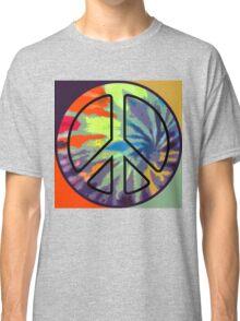 Peace Symbol - Tie Dye - 001 Classic T-Shirt