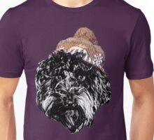 Cockapoo in a Winter Hat (Pink) Unisex T-Shirt