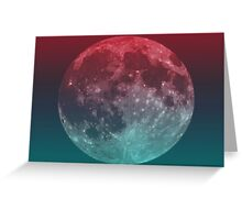 American Werewolf on the Moon (Optical iLLusion)  Greeting Card
