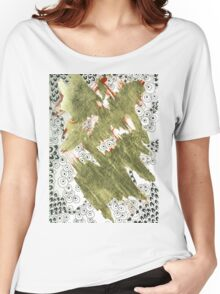 Golden (Mixed Media and Pattern) Women's Relaxed Fit T-Shirt
